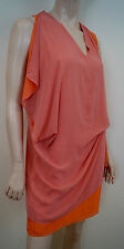 ACNE STUDIO Orange Draped V Neck Sleeveless Short Mini Evening Dress 38 10 BNWT