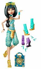 Monster High CLEO De NILE Fashion DOLL & I LOVE Heart SHOES & Earrings Set Pack