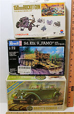 1:32 AirFix Monte's Humber + 1:72 Revell Sd.Kfz.9 FAMO + 1:76 150mm Rocket Gun