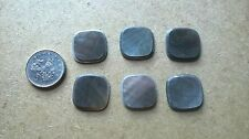 6 x  Rounded Square Black  Mother of Pearl Inlay Piece 16 x 16 x 1.5   Vintage