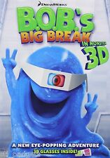 B.O.B.'s Big Break in Monster 3D by DreamWorks NEW DVD Buy 2 Items-Get $2 OFF