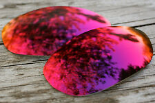 Purple Red Mirrored Custom Replacement Sunglass Lenses for Oakley Monster Dog