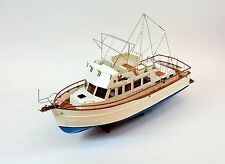 "Grand Banks 42 Classic Yacht Handmade Wooden Boat Model 36"" RC Ready"