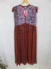 KENZO X H&M SILK BOHO STYLE DRESS WITH BUTTON FASTENING AUTHENTIC NEW WITH TAGS