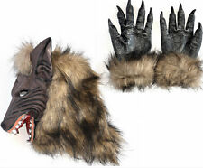 Animal Werewolf Masks & Wolf Claw Glove Cosplay Halloween Costume Theater Prop