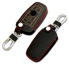 369- BMW Key Chain Cover Case Leather Black E87 F20 E90 E92 E93 F30 F34 X1 X3 X5