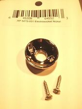 Electrosocket input jack cup - Nickel w/ Screws for Telecaster Style Guitar