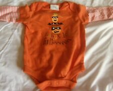 BABY'S FIRST HALLOWEEN Onesie Outfit BABYS FIRST Pumpkins NEW Size 6 - 9 months