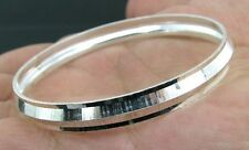 Real Solid Silver Kids Bangle Kara Bracelet 5cm - Single
