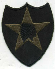 US Army Vietnam Era 2nd Infantry Division OD Subdued Patch Early Cut Edge