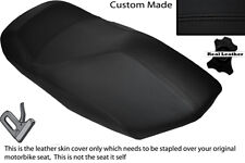 BLACK STITCH CUSTOM FITS YAMAHA YP 125 MAJESTY 00-03 FRONT LEATHER SEAT COVER