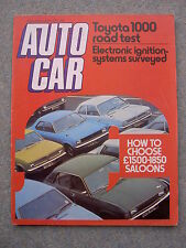 Autocar (8 May 1976) Toyota 1000, Jensen Interceptor, Spanish GP, Stirling Moss