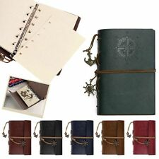 Retro Vintage Leather Cover Blank Pages Travel Journal Diary Notebook Sketchbook