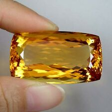 88.95ct  LUSTROUS  IMPERIAL GOLDEN ORANGE NATURAL CITRINE CUSHION  !