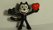 "Felix the Cat 2"" Figure Open Arms w/ Heart 1989 Applause Figurine Vintage Toy"
