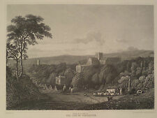 City of Winchester England United Kingdom Antique Steel Engraving 1887