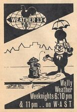 1965 TV AD~WALLY WEATHER on WAST in ALBANY,NEW YORK~WEATHER 13