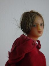 Antique rare wax doll with real hair Wax Over Composition Santon type victorian