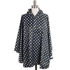 Free Spirit Weather Proof Unisex Polka Dot Rain Jacket / Coat / Poncho / Cape