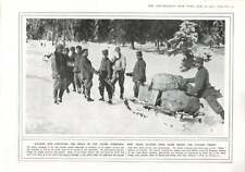 1916 Sledges Delivering Mail Italian Troops Snowclad Mountains