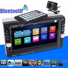6.6'' Touch Screen 2 DIN Car System MP5 Music Player Bluetooth Radio Rear Camera