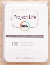 PROJECT LIFE (100) 3x4 GRID JOURNALING CARDS scrapbooking 380070