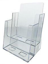 "Clear Acrylic 2-Tier Brochure Holder for 6""w Literature"