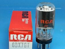 RCA 6BX7 GT VACUUM TUBE SINGLE SIDE GETTER RARE BEST OF THE BEST COIN BASE R20J
