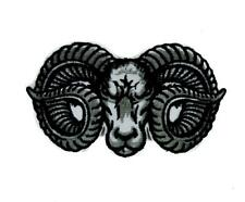 Evil Ram Horns Goat Head Patch Iron on Applique Alternative Clothing Dodge