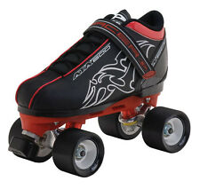 NEW! PACER ATA 600 BLACK SPEED QUAD SKATES MEN'S sz 6 ROLLER ABEC 7 $150 valu