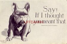 1910 SAY! IF I THOUGHT YOU MEANT THAT. bulldog illustration Cpyrt F J Bilek
