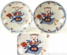 C1735-1796 TWO ANTIQUE CHINESE QIANLONG FLOWER BASKET PORCELAIN SAUCER DISHES