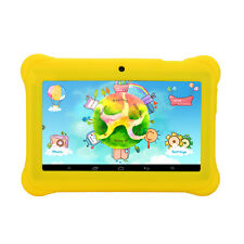 "iRULU 7"" Yellow Android 4.4 Quad Core Dual Camera Tablet PC for Kids Children"