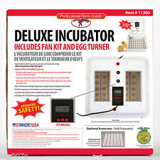 Little Giant 11300 Deluxe Incubator with Fan Kit and Egg Turner. Digital Control