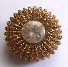 broche bijou ancienne ronde dentelle soltaire cristal diamant 4173