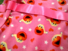personalized with your childs name pink with elmo  fleece bassinet/cot  blanket