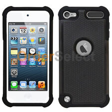 Fenzer Hybrid Rugged Rubber Hard Case Cover for Apple iPod Touch 5 5th Gen Black