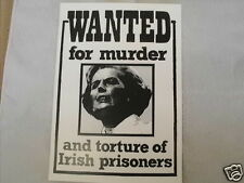 IRISH REPUBLICAN WANTED FOR MURDER POSTCARD COLLECTORS ITEM