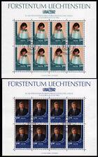 Liechtenstein 797-98, O, Kleinbogen, Briefmarken-Ausstellung LIBA 1982