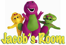 144 - BARNEY AND FRIENDS NAME PERSONALIZED DOOR WALL ROOM POSTER CUSTOMIZED
