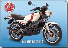 YAMAHA RD 350 LC MOTO METAL LETRERO VINTAGE 2 TIEMPOS JAPONÉS MOTOCICLETAS .A3
