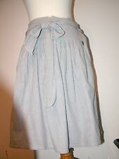 "FENCHURCH SHORT STRIPED SKIRT WITH PETTICOAT ATTACHED + WAIST TIE 34-38"" W"