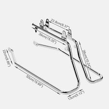 New Chrome Conversion Bracket Kit Saddle Bag Mount For Harley Davidson Softail