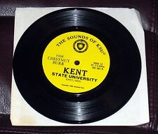 "KENT STATE UNIVERSITY 1968 Chestnut Burr 33 1/3 Sounds of KSU 7"" Ohio yearbook"