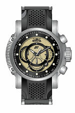 Invicta S1 Rally Chronograph Black and Gold Carbon Fiber Dial Stainless Steel