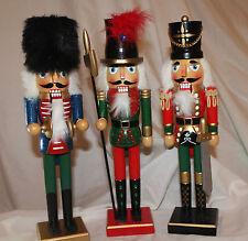 Decorazione di Natale-Set di 3 mila dollari 38cms legno Natale Schiaccianoci SOLDATI Uomini