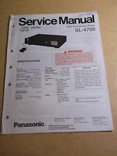Panasonic Multi Compact Disc Player Sl-4700 Service Manual *Free Shipping*