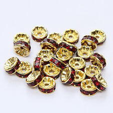 NEW for jewelry 100pcs Size 8MM Plated silver crystal spacer beads single colors