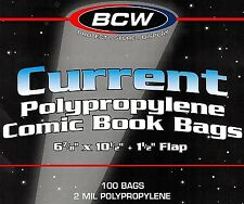 200 Current Comic Bags and Boards NEW BCW Modern Archival Book Storage