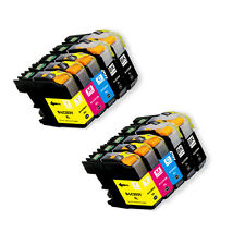 8 PK Printer Ink Set + Chip use for Brother LC203 MFC-J680DW MFC-J880DW J885DW